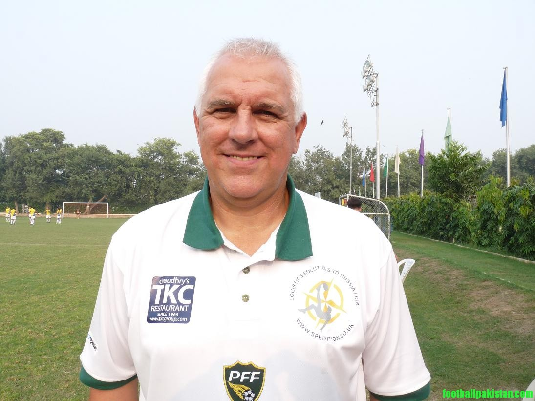 Graham Roberts - coaching consultant Pakistan U23 Football team for Asian Games 2010