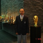 Tariq Lutfi at FIFA HQ with FIFA World Cup trophy