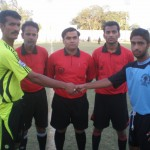 Captains of Baloch Youth and Al-Shabaz shake hand