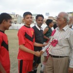 Chief Guest Raziq H. Rabbani meets players