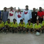 Chief Guest M. Rahim with Irfan Memorial FC