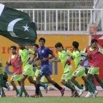 Pakistan U16 celebrate SAFF U16 Cup final win (AFP Photo)