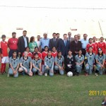 Brazilian Ambassador to Pakistan Alfredo Leoni with PFF Officials before Islamabad vs Army game in National Women Championship 2011