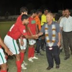 PMC Athletico vs KPT players meet guest Yunus Changezi, former Sports Minister of Balochistan