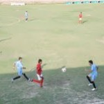 Match being played between tow teams