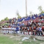 Spectators during the football match