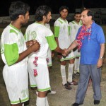 General Secretary PFF Lt. Col.R. Ahmed Yar Khan Lodhi before the match between Army & Wohaib FC