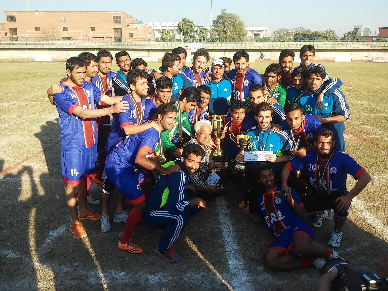 KRL win PFF Cup 2016