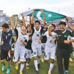 Pakistan U23 celebrating win over India in 2014