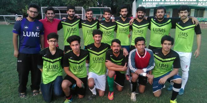LUMS edge Nadeem FC in Fame Football League [The News]