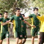 Pakistan street child football team trains
