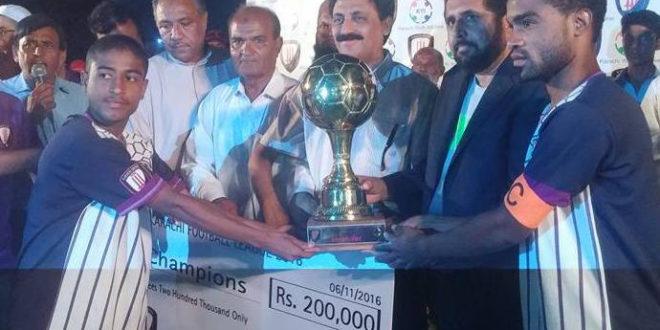 Mauripur Baloch won Karachi Football League