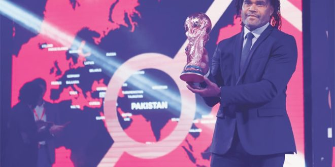 FIFA World Cup Trophy gets rapturous welcome in Pakistan [Dawn]
