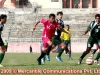 Player of Aarambag Bangladesh in action against Pakistan (green) during the match of the 1st Prime Minister Cup Football Tournament at Dasharath Stadium in Kathmandu on Thursday, 08 March 2009. The game was ende 1-1. Photo: NPA