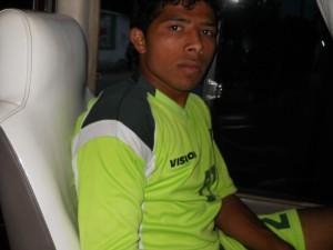 Muhammad Adil with Pak U22