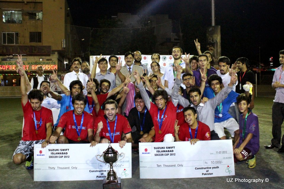 Ruthless Red Devils crush BMI to lift Islamabad Soccer Cup 2012