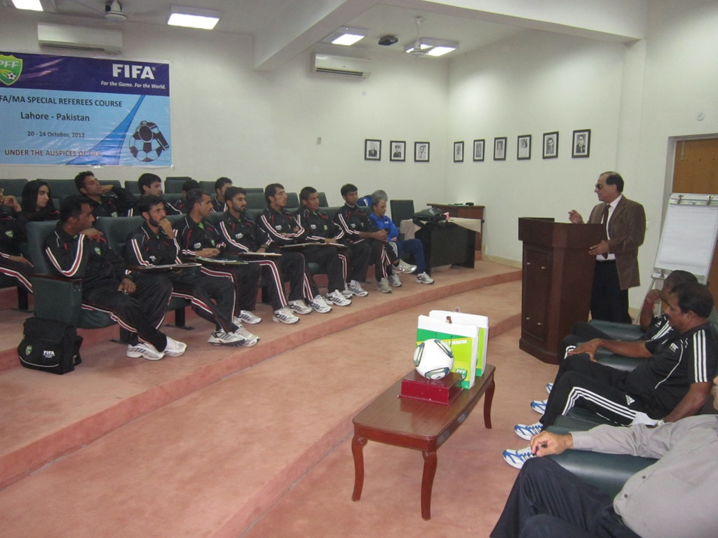 FIFA MA Referee course ends in PFF House Lahore