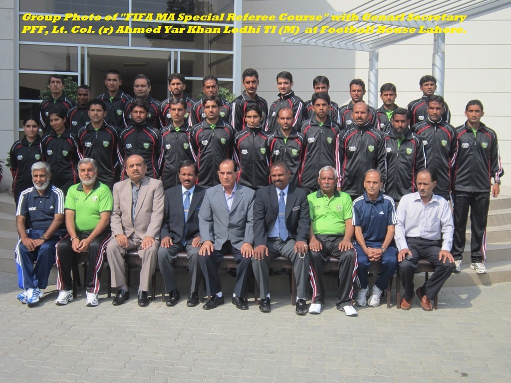 FIFA MA Special Referee Course begins in Lahore