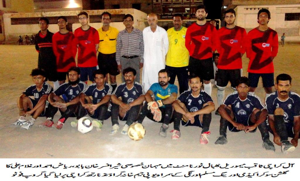 Gulshan Soccer, Academy win in Saqib Memorial 6-a-side