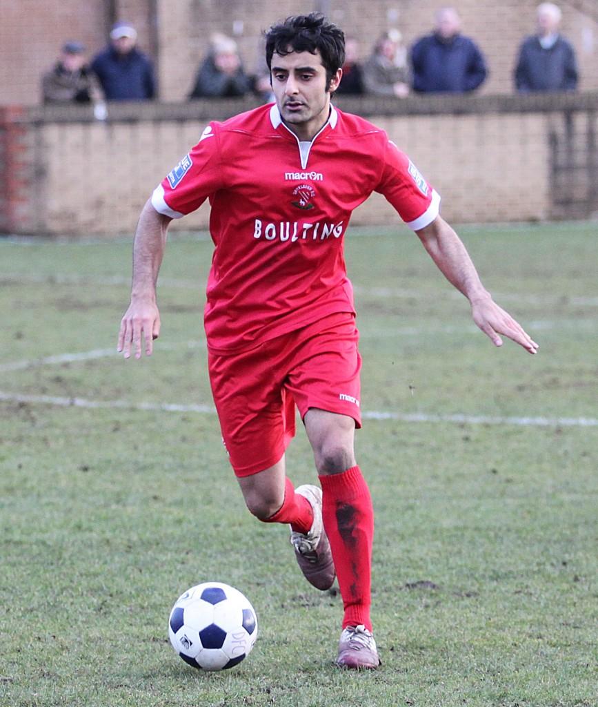 Ahmed in Droylsden colours, Pic: Derek Lloyd