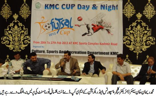 KMC FUTSAL CUP 2013 (press briefing)