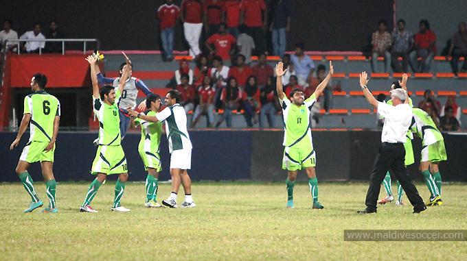 Pakistan celebrate at final whistle