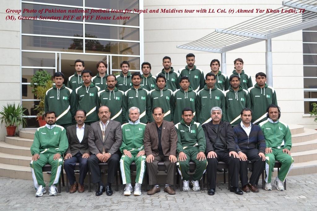 Pakistan team for 2013 friendlies vs Nepal and Maldives