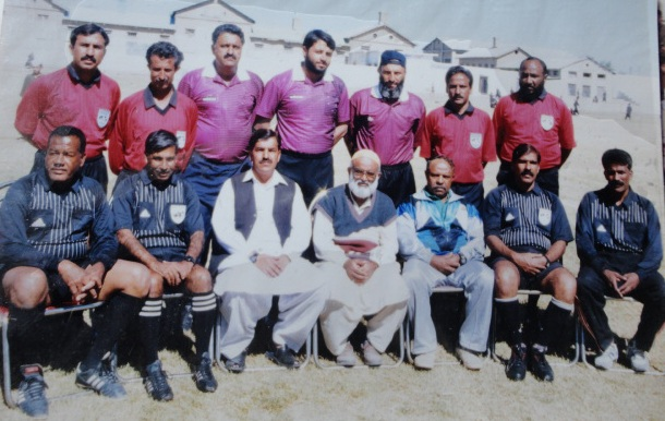 Qazi Asif as Match Commissioner in PFF Cup Chaman 2000