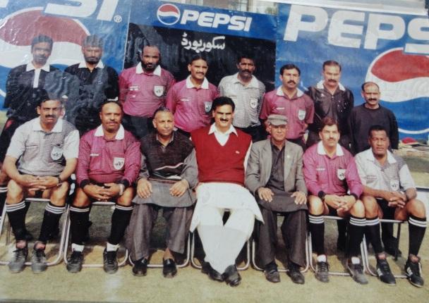 Qazi Asif as Referee in National Chamionship 1996 at Faisalabad