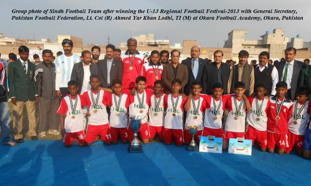 Sindh win National U13 Football Festival 2013 Regional Event in Okara
