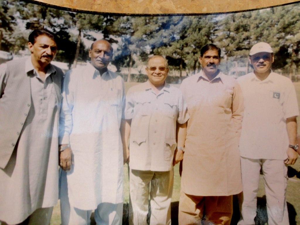 Ayub Dar, Younus Rana, Younus Changezi, Ch. Rasheed and Tariq Lutfi (LtoR)