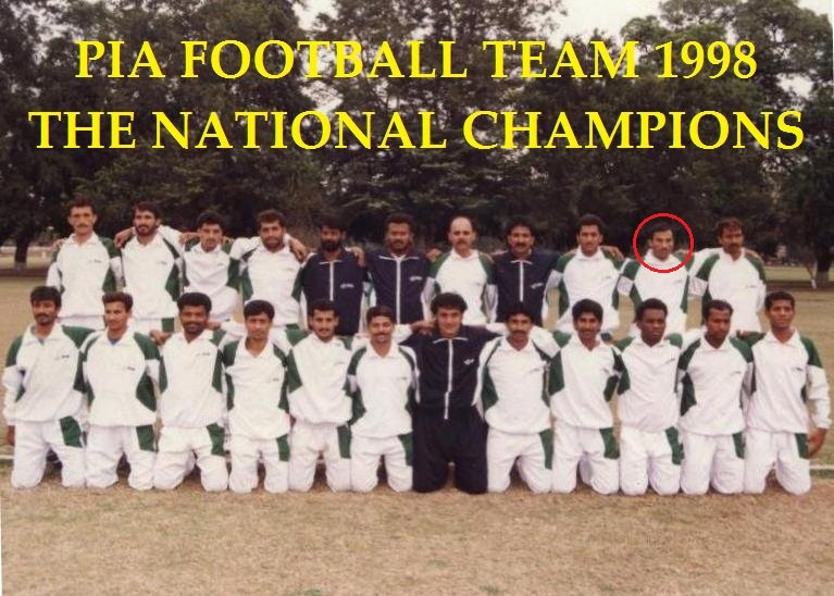 Imtiaz Butt with PIA - 1998 national champions