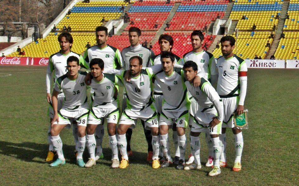 Pakistan team before facing Kyrgyzstan