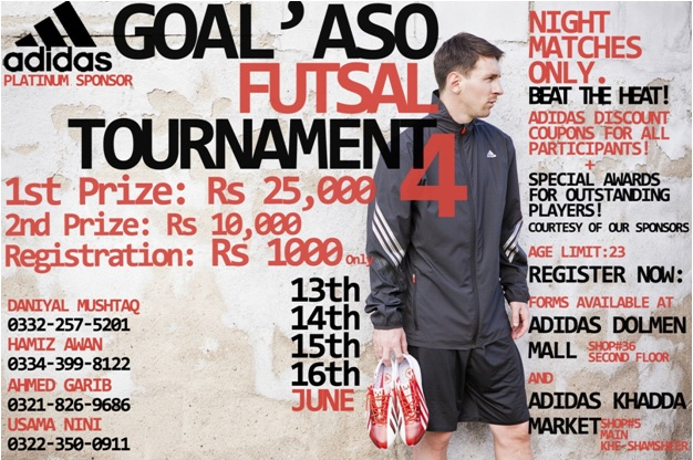 Goal'aso Futsal Tournament 4 set to rock Karachi