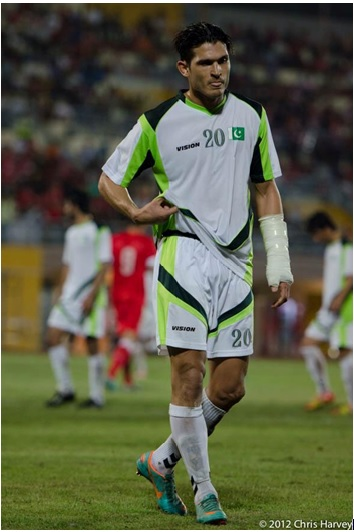 Mohammad Ali is an aggressive player who gives 110% on the pitch every time.