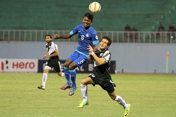 Riaz put up a valiant display during the 2013 SAFF Championship in Nepal.