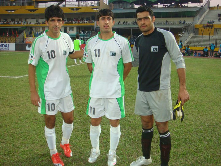 Former Pakistan captain Mohammad Essa (Left) and goalkeeper Jaffar Khan (Right) were scouted and coached by John Layton.