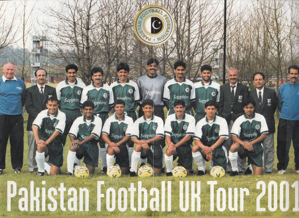 The Pakistan National Team that toured England under John Layton and played friendlies against clubs such as Bury FC,