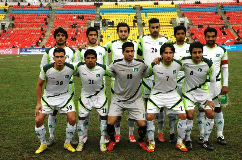 The Pakistan Team that played in the AFC Challenge Cup Qualifiers.