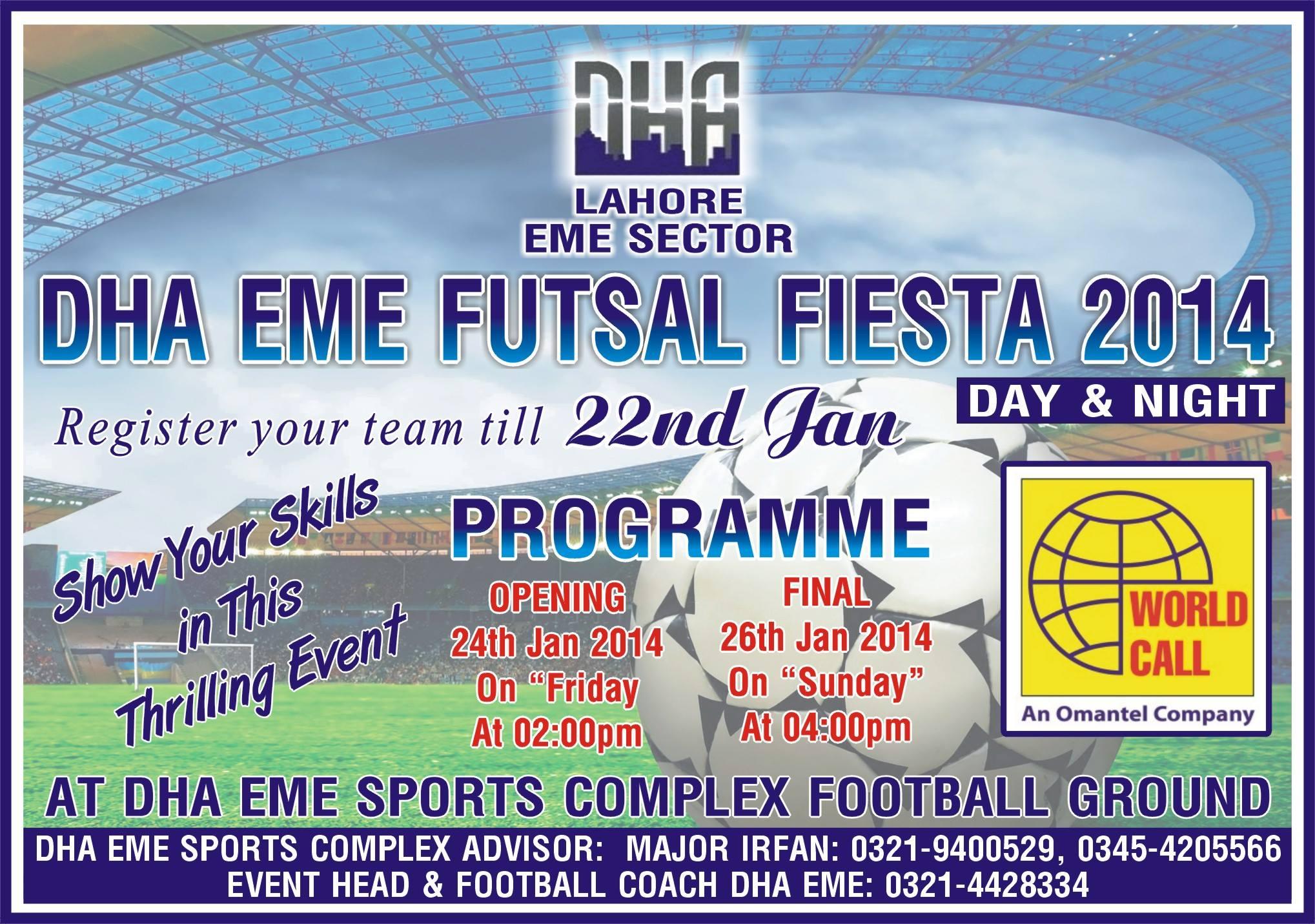 EME Sports Complex Futsal Tournament set to kick-off