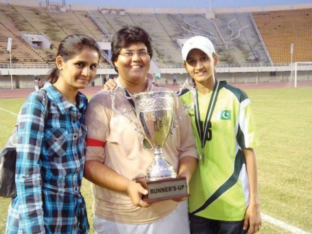 Feature : Empowering women through football [Express Tribune]