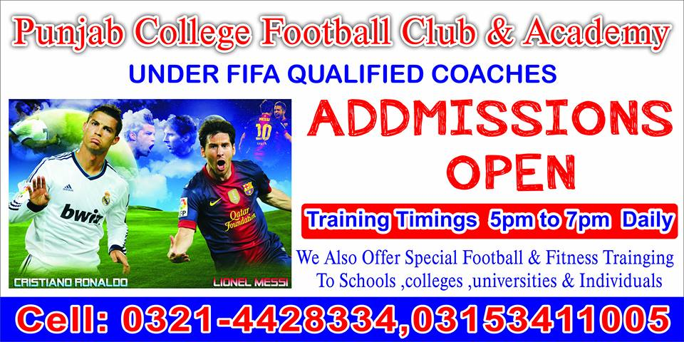 First Punjab College Football Club and Academy Futsal Tournament 2014 set to start on 25th April