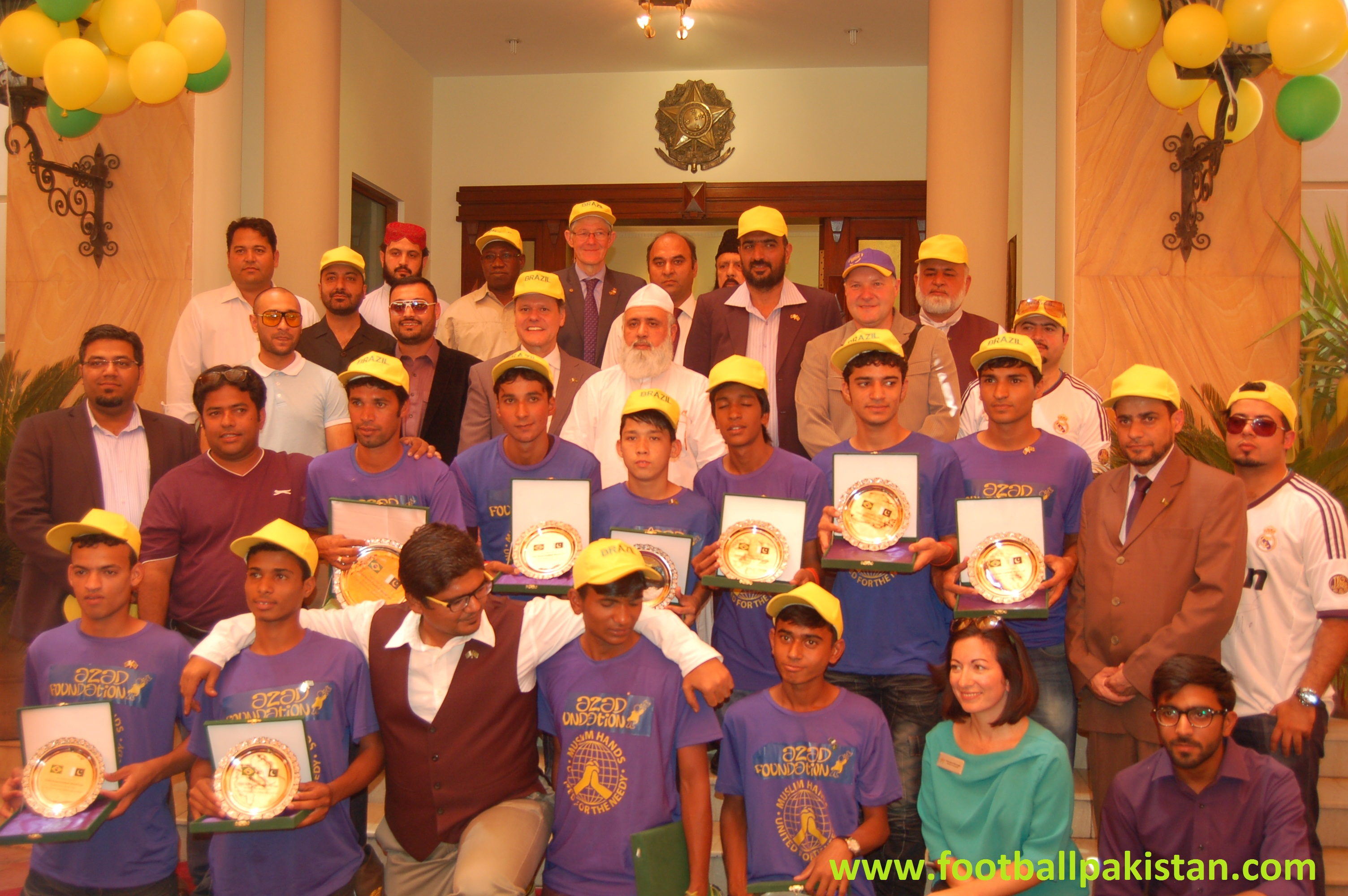 Brazil Embassy hosts special reception for the Street Child World Cup Team