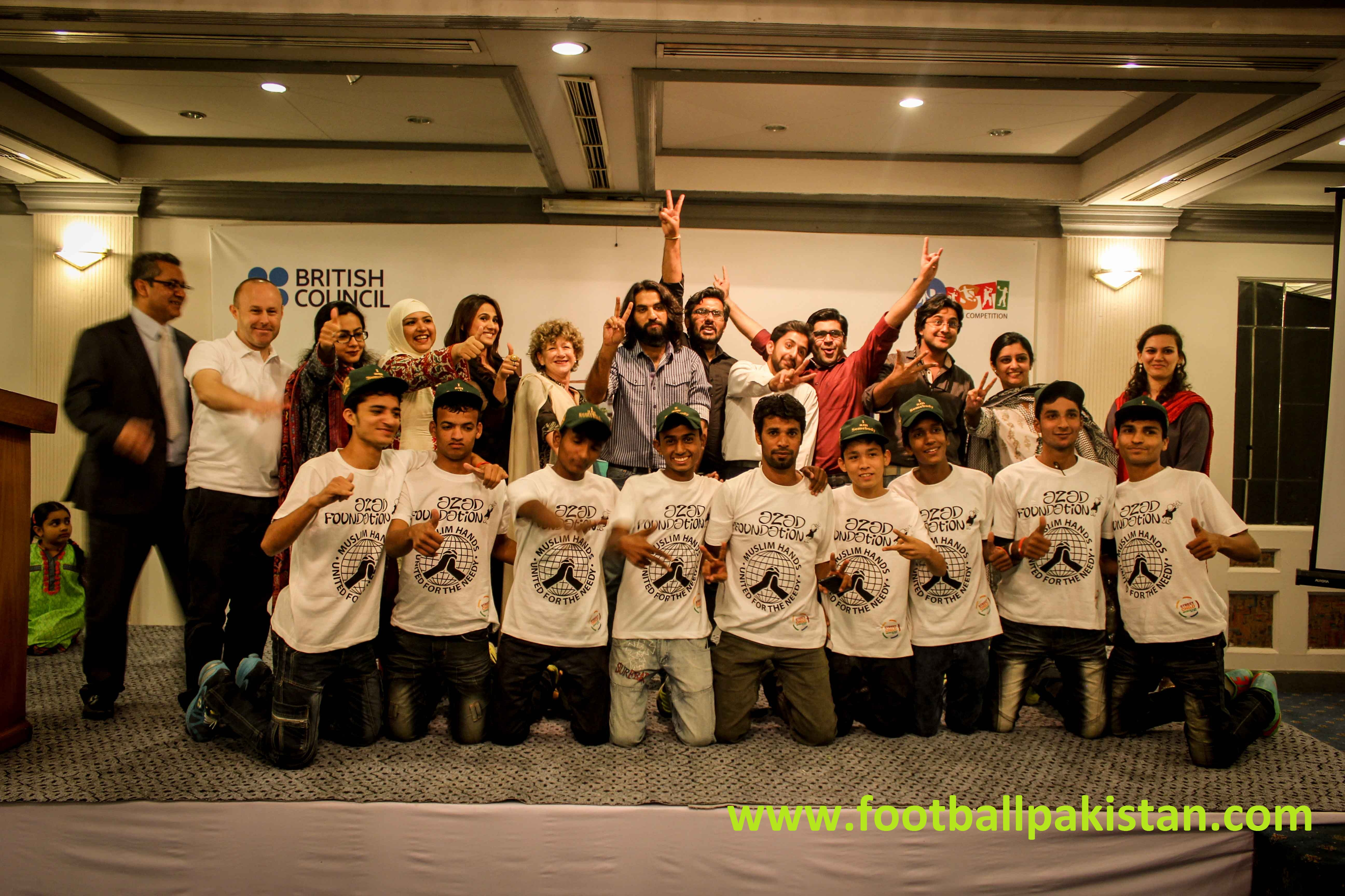 British Council hosts a reception for the Pakistan Street Child World Cup Team