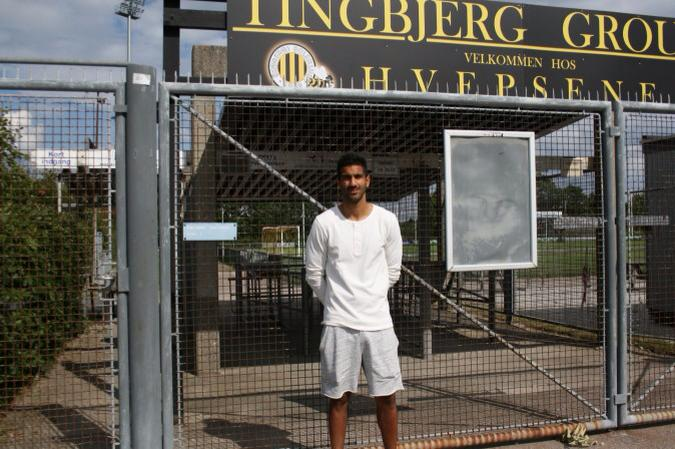 Yousuf at his new club.