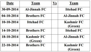 Jhelum League 14 - Group G
