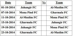 Jhelum League 14 - Group H