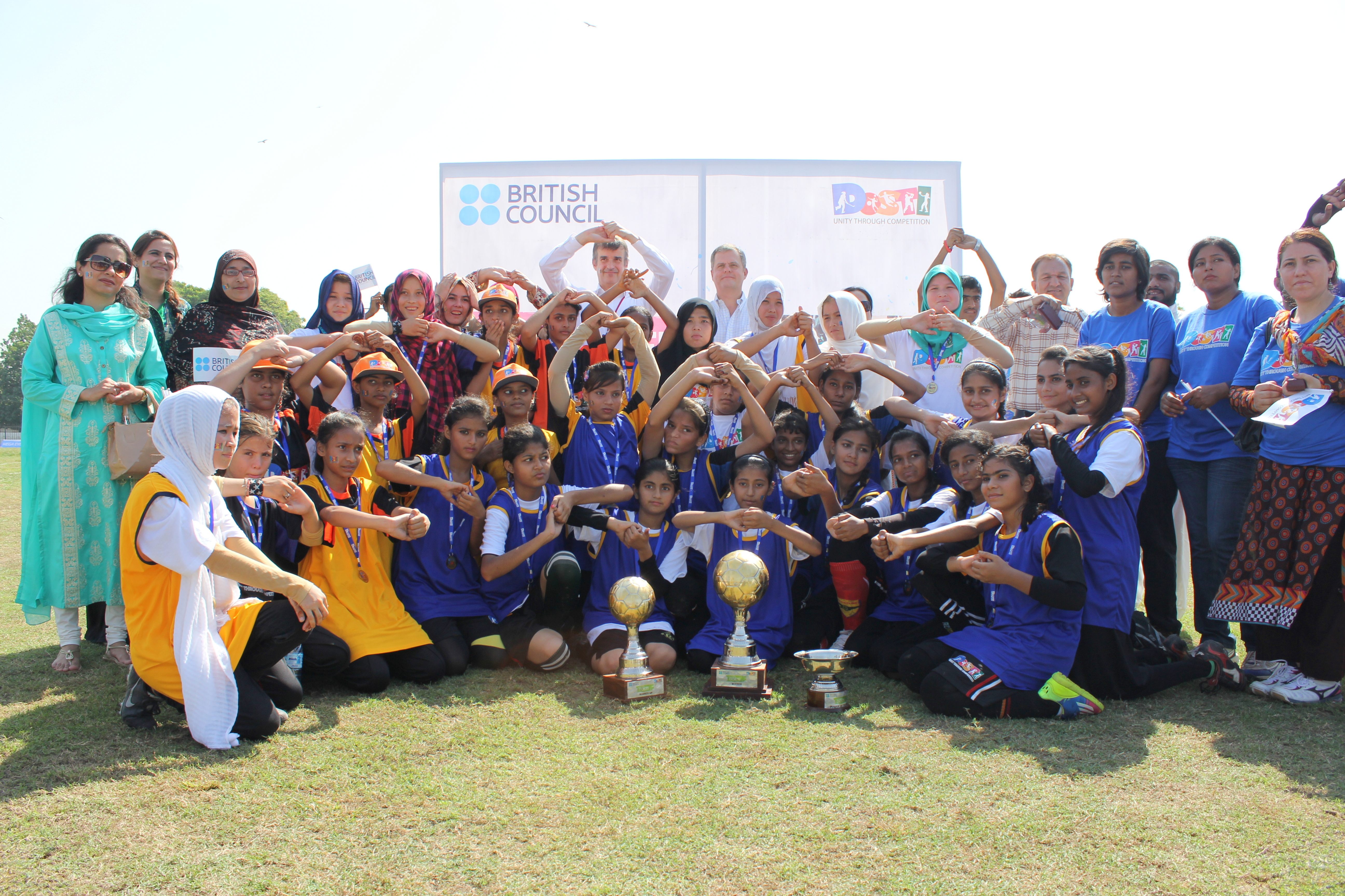 British Council celebrates DOSTI with a football match