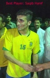 Saqib Hanif named player of the tournament as guest player for Karwaan FC