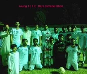 Young XI FC (Dera Ismail Khan) - winners of Shaukat Hayat Khan Memorial final in Mianwali
